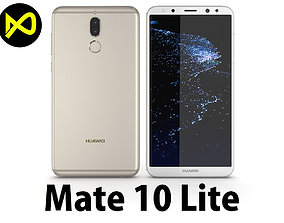 3D model Huawei Mate 10 Lite Gold