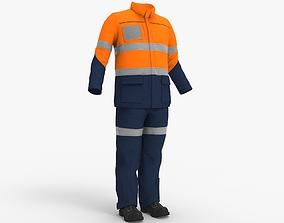 3D model Worker suit - work clothes - Workman Mining