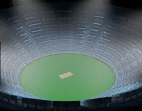 cricket stadium 3d model sport