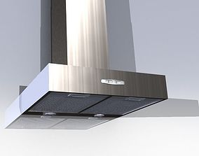 Wall hood kitchen air extractor 3D