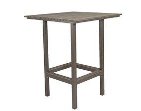 3D model Marina Solid Wood Bar Table