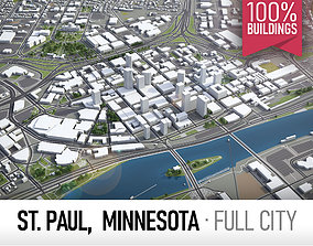 3D model Saint Paul - city and surroundings