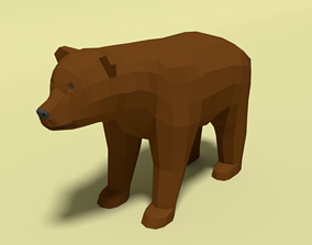 3D model Low Poly Cartoon Bear