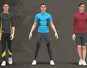 Men Sport Outfit - 65 Marvelous Designer and Clo3D