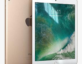 3D asset Apple iPad 9-7 2017 Gold