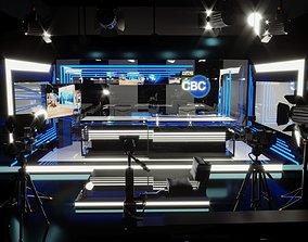 Television studio 3D model