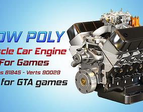 CNC-Motorsports Engine - V8 Muscle Cars Engine 3D asset