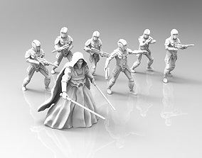 Ancient Knight and Troopers Bundle 3D print model