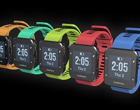 3D asset Garmin running watch