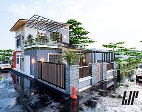 modern minimalis house concept 3D printable model