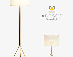 3D asset Adesso Tempo Floor and Table Lamp