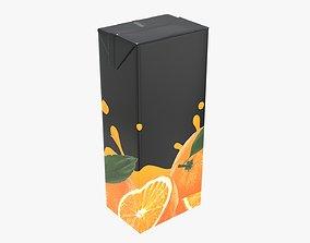 3D Juice 1500ml cardboard box packaging