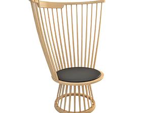 3D armchair Fan Chair Lounge