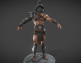 Gladiator-Mirmillon customizable 3D asset