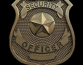 3D print model Security Officer Badge