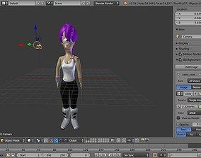 futurama leela 3D model