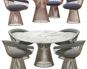 Knoll - Platner Dining Table And Chair 3D model