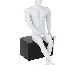 Mannequin sits on box 138 3D