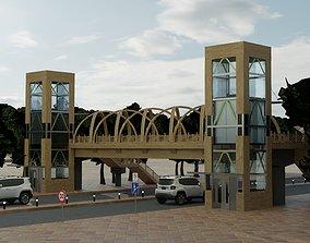 Pedestrian Overpass 3D asset