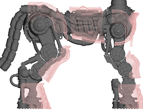 Centaur knight conversion kit - Classic 3D print model 2