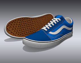Vans Old Skool Shoes 3D model