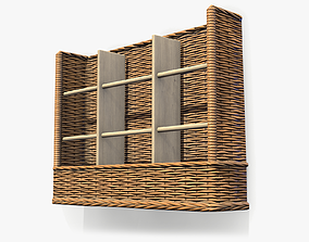 Wall Mounted Basket lowpoly 3D asset