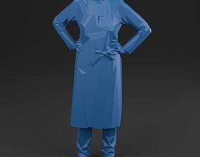 3D asset game-ready women 01 Artisan - LowPoly printable