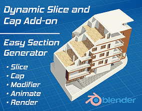3D model Dynamic Slice and Cap for Blender