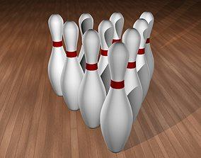 10 Bowling Pins 3D model