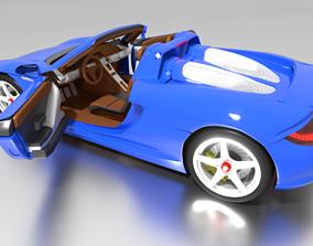 turbo 3D model Porsche Carrera GT