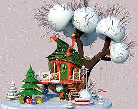 Christmas house 3D