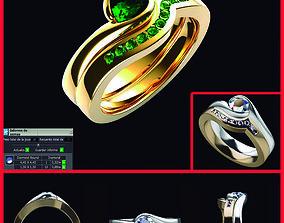 Solitario Con Engaste AS-E-007 3D printable model