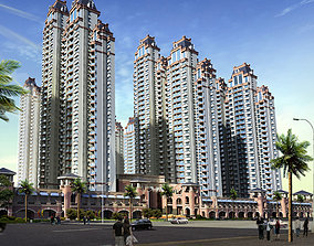 classical residential tower 3D
