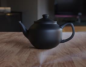 Simple Black Teapot 3D model