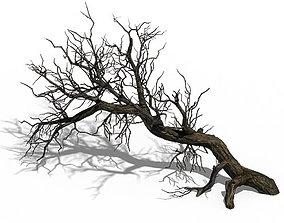3D model Winter snow - dead tree 02
