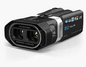 JVC Everio GS-TD1 3D camcorder animated