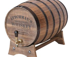3D model Whiskey Barrels