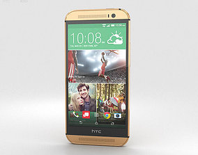 3D model HTC One M8 Amber Gold