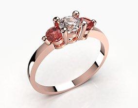 3D print model Women Trilogy Ring For Wedding Or For 3