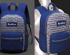 Backpack Camping bag baggage Color 3d low VR / AR ready