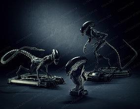 Dog alien Sculptures and Bust - fanart 3D model