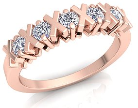 3D printable model Woman Diamond Ring wedding engagement