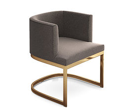 3D Barrel back dining chair