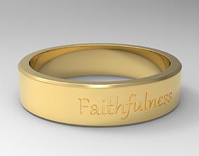 3D printable model Faithfulness Ring