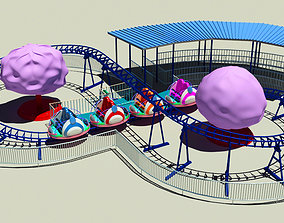 3D model Family Roller Coaster Ride