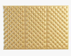 Decorative wall yellow panel 3D