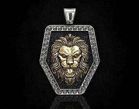Lion face pendant 3D print model