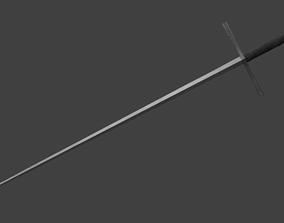 3D model Sword Estok Medieval Pricking