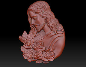3D print model Jesus with roses
