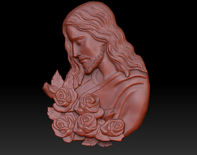 Jesus with roses 3D printable model